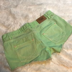 Bright Green PINK Jean Shorts, Size 8